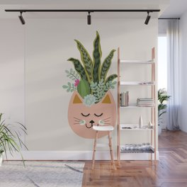 Cats and Plants Wall Mural