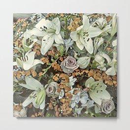 Toony World - Floral 7 Metal Print