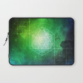Abstract Deep Space Portal Blue-Green Laptop Sleeve