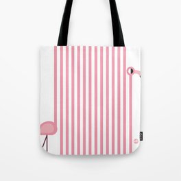 Striped Flamingo Tote Bag