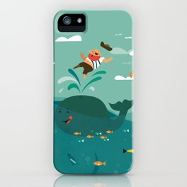Whales and Pirates iPhone Case