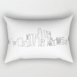 Los Angeles Skyline Drawing Rectangular Pillow