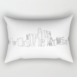 Los Angeles Skyline Drawing Rectangular Pillow