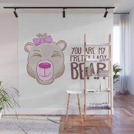 Lady Bear Wall Mural