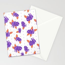 Floral clemson sports college football university varsity team alumni fan gifts Stationery Cards