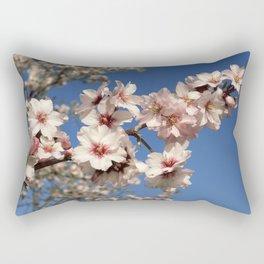 Almond blossom on the tree Rectangular Pillow