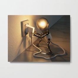 Light Bulb Plug Metal Print