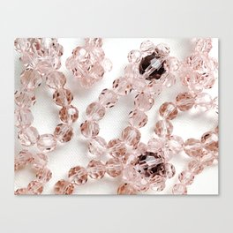 PLOOM - Lucky Pink Crystals in Bloom Canvas Print
