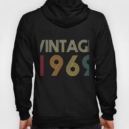 Vintage Born in 1969 50 Years Old 50th Anniversary Hoody