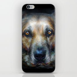Dog V iPhone Skin