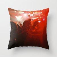 concert Throw Pillows featuring concert by Alexandra Bauer