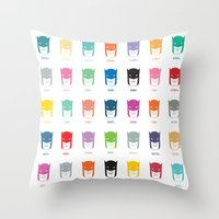 pantone Throw Pillows featuring Pantone Knight by James Northcote