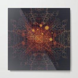 Net Metal Print