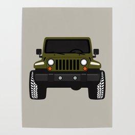 [JEEP] GREEN + GREY BG Poster