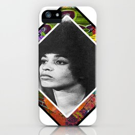 Ms. Davis Afro Diamond iPhone Case