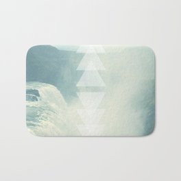 Geometric Waterfall (Western Sea) Bath Mat