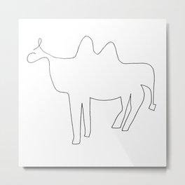Line Camel Metal Print