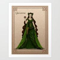 valar morghulis Art Prints featuring Yavanna by wolfanita