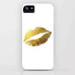 Gold Lips iPhone Case