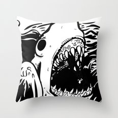 Shark off Throw Pillow