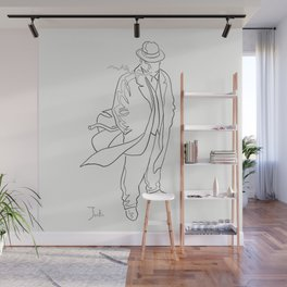 Mobster in contemplation Wall Mural