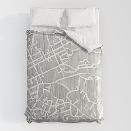 chapel hill city print Comforters