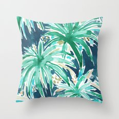 VELVET JUNGLE Tropical Leaves Throw Pillow