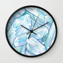 Blue Green Crystal Cave Wall Clock