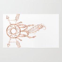 Mandala Rose Gold Pink Dreamcatcher Rug