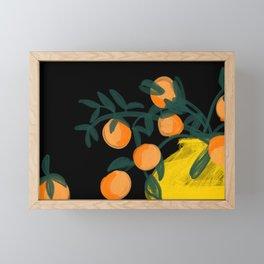Oranges in Vase No 05 Framed Mini Art Print