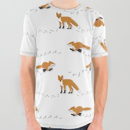 Fox Tracks All Over Graphic Tee