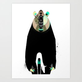 Where Bear meets Dear Art Print