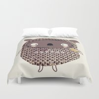 koala Duvet Covers featuring koala by Sucoco