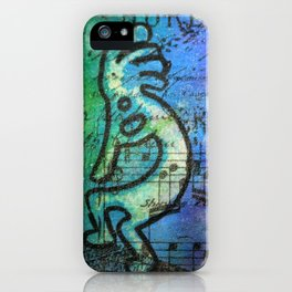 Rainbow Kokopelli  iPhone Case