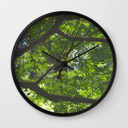 Mossy Woodland Wall Clock