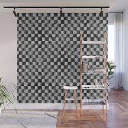 Edgy Checker (in shades of grey) Wall Mural