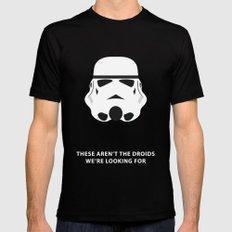 Star Wars Minimalism - Stormtrooper MEDIUM Black Mens Fitted Tee