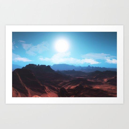 Mountain landscape II Art Print