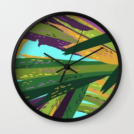 I'll Cover You - Tropical Palm Leaves Illustration Wall Clock