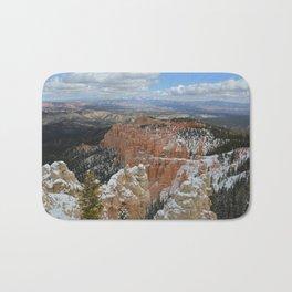 Snow in Bryce Canyon Utah Bath Mat