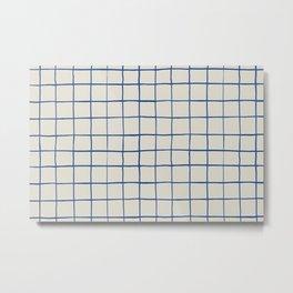 BASIC | Criss Cross Blue Metal Print