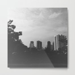 Sao Paulo Black and White Metal Print