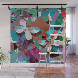 Butterfly abstract design Wall Mural