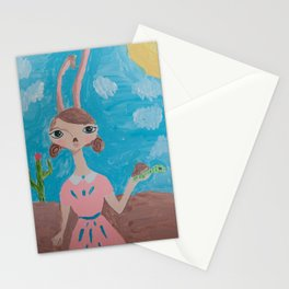 ~ Tortoise and Hare ~ 10 Year Old Amelia's Arizona Critter Girl Stationery Cards
