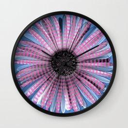Urban daisy wearing street-cred stripes Wall Clock