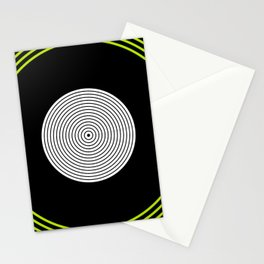 Colour Pop Circles - Lime Green Stationery Cards