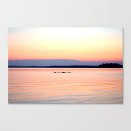 Sunset Family Canvas Print