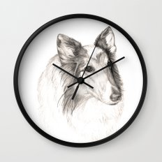 Remembering Maggie :: A Tribute to a Collie Wall Clock