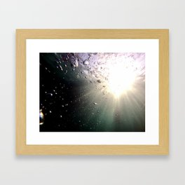 Sun in the pool with bubbles Framed Art Print