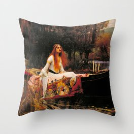 "John William Waterhouse ""The Lady of Shalott"" Throw Pillow"